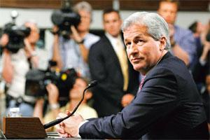 Under scrutiny: Jamie Dimon prepares to testify on Capitol Hill on Wednesday before the senate banking committee. Photo: Haraz N. Ghanbari/AP