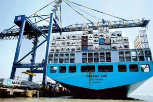 Maritime claims: A ship at the Nhava Sheva port in Navi Mumbai. The government is asking for valid insurance certificates as ports are often unaware if a ship's cover has been revoked due to?non-payme