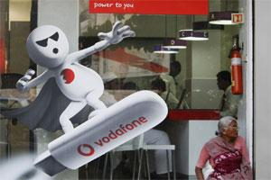 A Vodafone India Ltd. retail store in Mumbai. Photo: Bloomberg