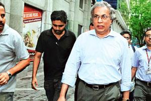 Voicing dissent: Purnendu Chatterjee, Haldia's vice-chairman, walks out from the firm's board meeting on Tuesday. Photo: Indranil Bhoumik/Mint