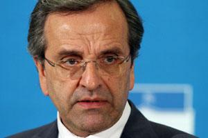 Antonis Samaras, head of the centre-right New Democracy party. Photo / AFP