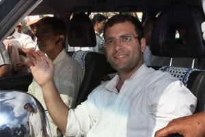 RahulGandhi on a five-day-visit to Karnataka. (PTI)