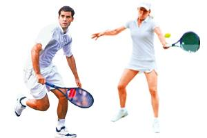 Most singles titles : Pete Sampras (1993-95, 1997-2000) and Martina Navratilova (1978-79, 1982-87, 1990).