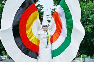 Walking tall: Stilt artistes will take part in the Indo-German Urban Mela.