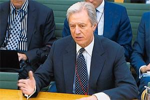 Giving evidence: This video image shows Barclays chairman Marcus Agius testifying before the treasury select committee on Tuesday.  Photo: AP