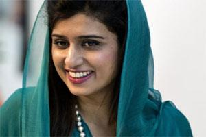 Pakistan's Foreign Minister Hina Rabbani Khar arrives for the 19th ASEAN Regional Forum Retreat at Peace Palace in Phnom Penh, Cambodia on Thursday. AP