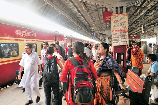 Passenger numbers for the Railways rose 14% on a year-on-year basis to around 36 million in May. Ramesh Pathania / Mint