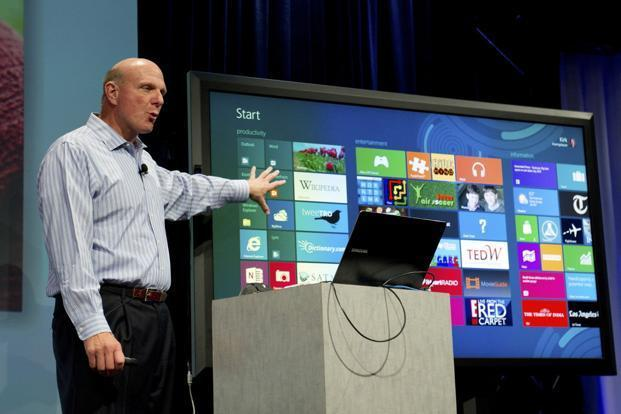 Steve Ballmer, chief executive officer of Microsoft Corp., speaks at an event in San Francisco, California, US