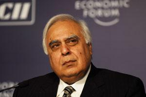 A file photo of telecom minister Kapil Sibal