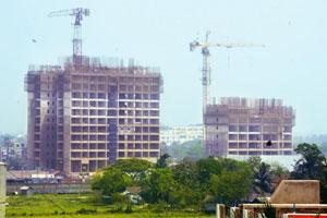 Under scrutiny: Urbana, the township that Bengal NRI Complex is developing. The operations of all joint sector firms are being reviewed, according to a state government official. Photo: Indranil Bhoum