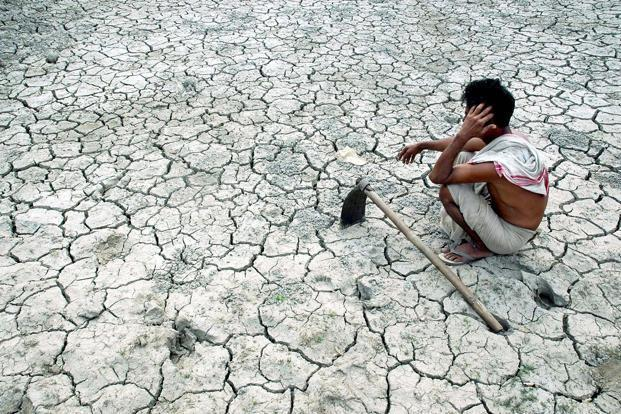 India is facing its second drought in just four years. AFP