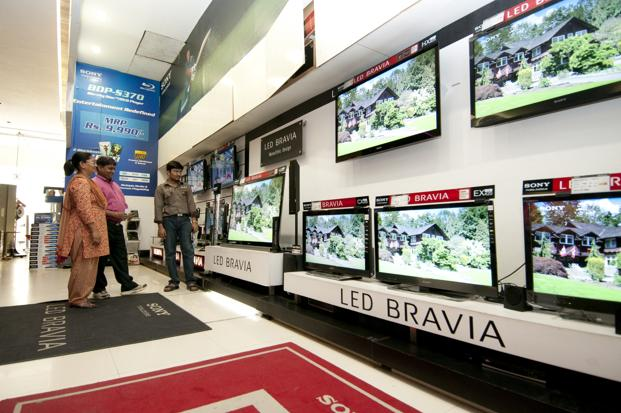 A file photo of a Sony store in New Delhi. Photo: Ramesh Pathania/Mint