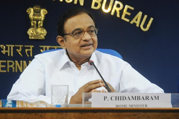 A file photo of Union finance minister P. Chidambaram. Photo: PTI