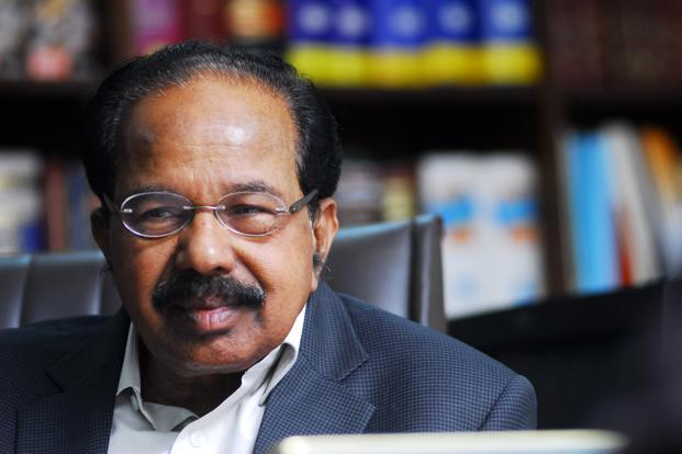 Power minister M. Veerappa Moily. Photo: Pradeep Gaur/Mint