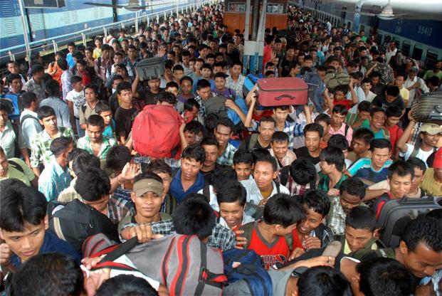 Visuals of packed trains headed to the North-East from cities such as Bangalore and Mumbai were testimony to the fear psychosis spread by various media. (Visuals of packed trains headed to the North-East from cities such as Bangalore and Mumbai were testimony to the fear psychosis spread by various media.)
