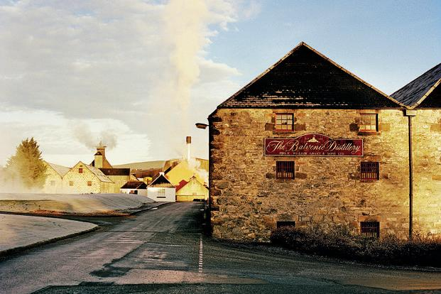 The Balvenie distillery is located in Speyside of the Scottish Highlands.