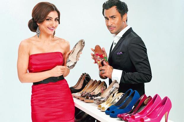 Cinderella's choice: Soha Ali Khan and Aki Narula on the show.