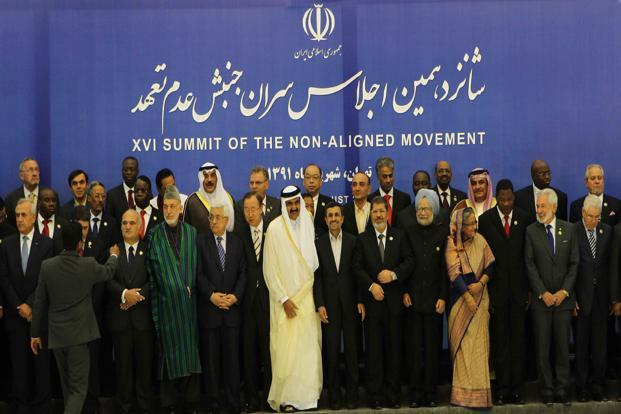 Delegates at the non-aligned movement summit, in Tehran, Iran. Photo: PIB