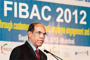 Straight-faced delivery: Subbarao's joke pertained to a recent public spat between RBI deputy governor K.C. Chakrabarty and SBI chairman Pratip Chaudhuri. Photo: PTI