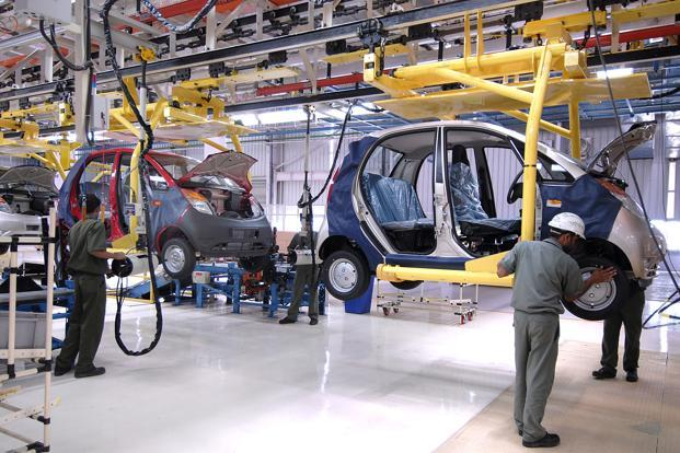 A file photo of Tata Motors plant in Sanand, Gujarat. TataMotors' sales since April have plummeted by 20.1%. Photo: Abhijit Bhatlekar/Mint (Abhijit Bhatlekar/Mint)