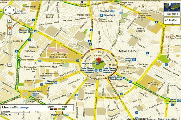 Bangalore Map Directions Google launches India traffic, turn by turn guide for maps