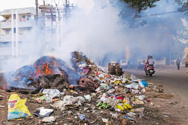 photo essay what a waste livemint garbage near assaye road