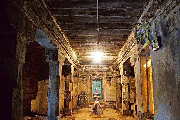 Lost heritage: Brihadeeswara temple in Sripuranthan village. Photo: SaiSen/Mint (SaiSen/Mint)