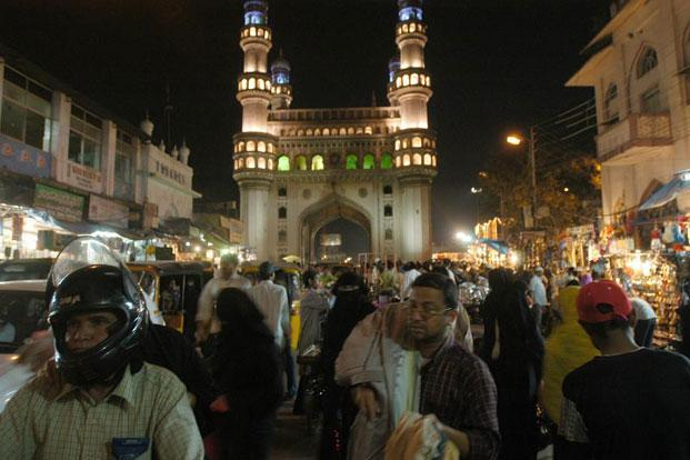 Charminar during Ramadan festival at Hyderabad. Photo: P. Anil Kumar/ Mint