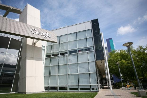 Google's headquarters at Mountain View, California. Google and Facebook are locked in a battle for social network followers that has increasingly shifted to mobile applications, such as photo editing. Photo: AFP