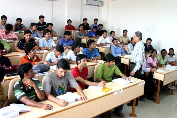 A file photo of students at IIM-Rohtak. Three of the six new IIMs—in Rohtak, Raipur and Kashipur—have conducted conferences to bring top human resources executives to their campuses. Photo: Hindustan Times