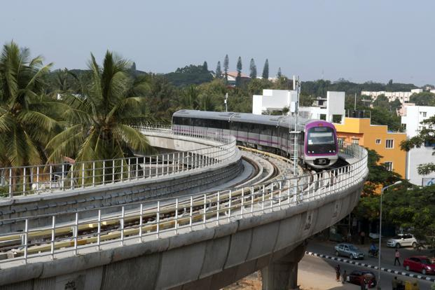 A file photo of the Bangalore metro. Photo by Photo: Aniruddha Chowdhury/Mint (Aniruddha Chowdhury/Mint)