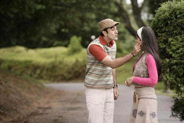 Ranbir Kapoor and Ileana D'Cruz in a still from the movie, Barfi!