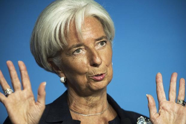 Lagarde said emerging market economies were now clearly slowing and there was concern in poor countries about rising food prices and volatile commodity prices. Photo: Paul J. Richards/AFP