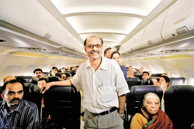 G.R. Gopinath reckons foreign investment would be good for the Indian aviation because it would help open up more routes, linking specifies cities like Mumbai and Varanasi. Photo: Namas Bhojani/Bloomberg