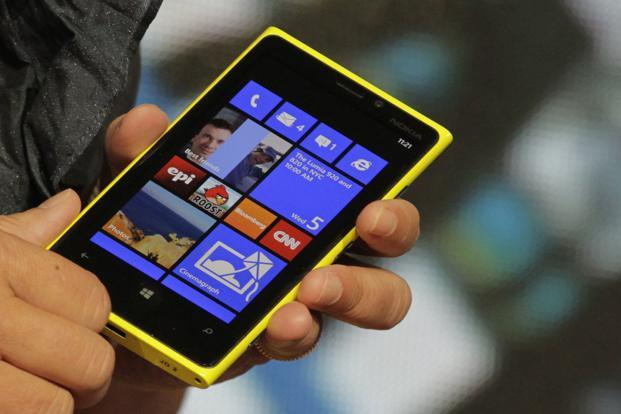 A Lumia 920 phone with Microsoft's Windows 8 operating system. Photo: Reuters