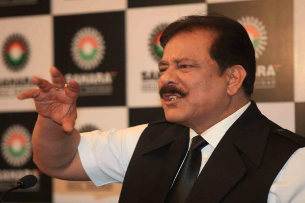 A February photo of Sahara Group chairman Subrata Roy at a press conference in Mumbai. The apex court on 31 August had said that if the companies—Sahara India Real Estate Corporation and Sahara Housing Investment Corporation—fail to refund the amount, Sebi can attach properties and freeze bank accounts of the firms.  Photo: HT