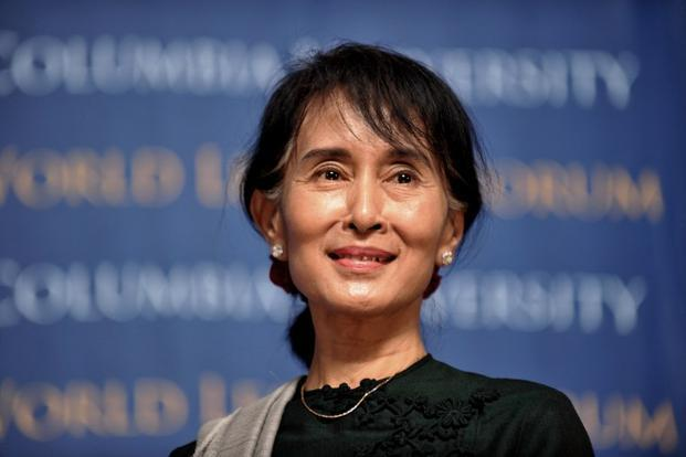 Myanmar leader Aung San Suu Kyi. Photo: AFP