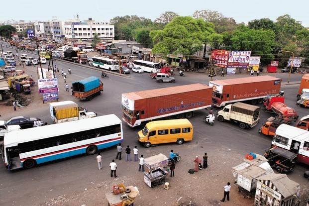 Chakan's roads witness frequent traffic jams due to the rapid urbanization. Photo: Abhijit Bhatlekar/Mint (Abhijit Bhatlekar/Mint)