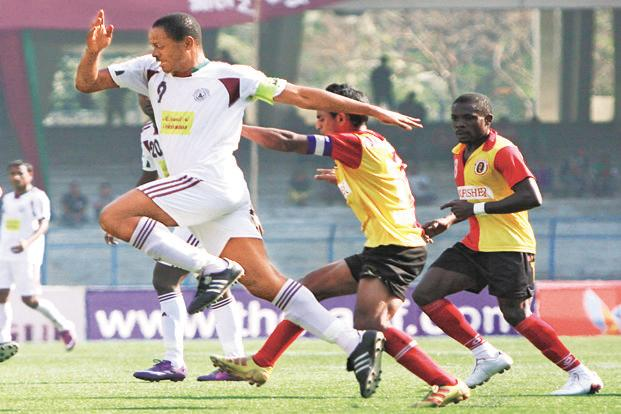Odafa Okolie, Mohun Bagan. Photo: Subhendu Ghosh/Hindustan Times