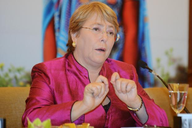 Michelle Bachelet, Under-Secretary-General and Executive Director of UN Women. Photo: AFP