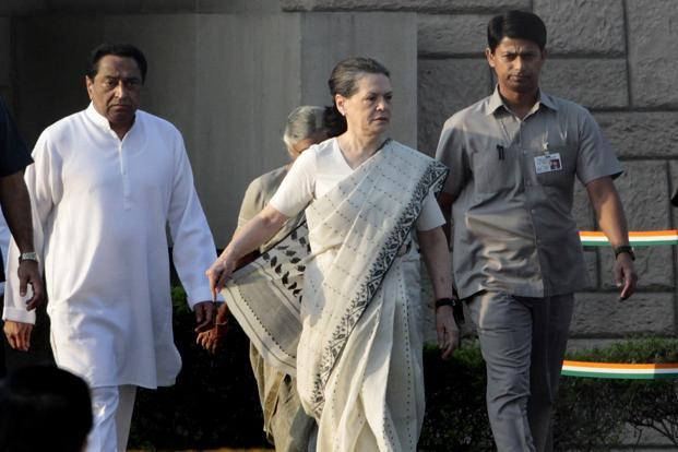 Congress party president Sonia Gandhi at Rajghat, New Delhi, on 2 October. In Gujarat, she blamed the opposition for diverting the attention from the core problems by taking up trivial issues. Photo: Sunil Saxena/HT