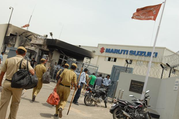 Maruti's Manesar factory, where workers have gone on strike several times in the past couple of years. Photo: Mint