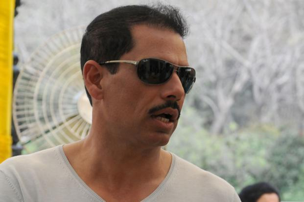 A file photo of Robert Vadra (centre). Photo: HT