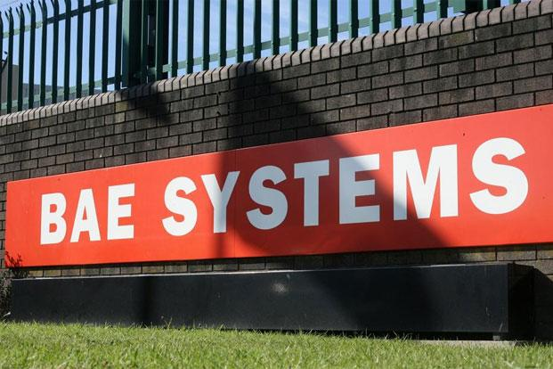 BAE Systems logo is seen at the company's site at Brough in East Yorkshire, England. Photo: AFP (AFP)