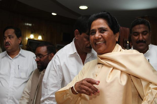 Mayawati is not in a hurry to declare her party's support for the UPA. Photo: Hindustan Times