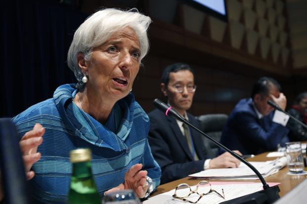 IMF managing director Christine Lagarde, left, says the economic crisis is not only affecting the advanced economies, but also having a ripple effect on emerging markets particularly in Asia. Photo: Shizuo Kambayashi/AP