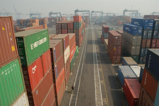 Merchandise exports fell for a fifth straight month in September as global demand stayed weak. Photo: Mint