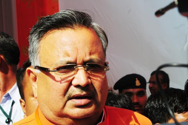 Chhattisgarh chief minister Raman Singh. It will be interesting to see how the state pulls off its Global Investors Meet on 2-3 November. Photo: Ramesh Pathania/Mint