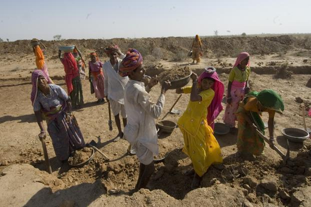Given that annual spending on MGNREGA accounts for less than 1% of India's annual GDP, its impact on raising national wages can only be marginal. Photo: Priyanka Parashar/Mint