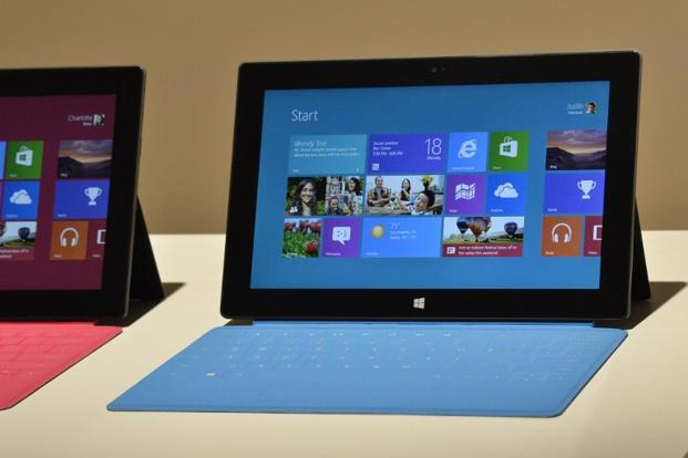 Microsoft's new Surface tablet. Photo: AFP